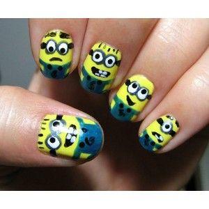 Minion Nails: Nails Art, Beautiful Nails, Nails Design, Art Minions, Nails Ideas, Despicable Me, Minions Nails, Nails Hair Mak, Paintings Nails