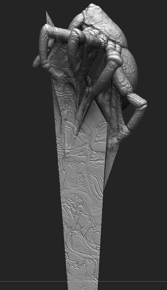This piece is me trying to integrate hard surface forms with organic forms in the same mesh. This this is a texture experiment.