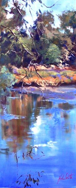 Goulburn River Reflections Seymour 01 0il 22x55