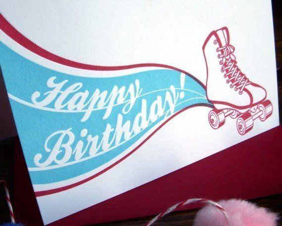 rosso di tipografia retrò roller skate buon di afavoritedesign