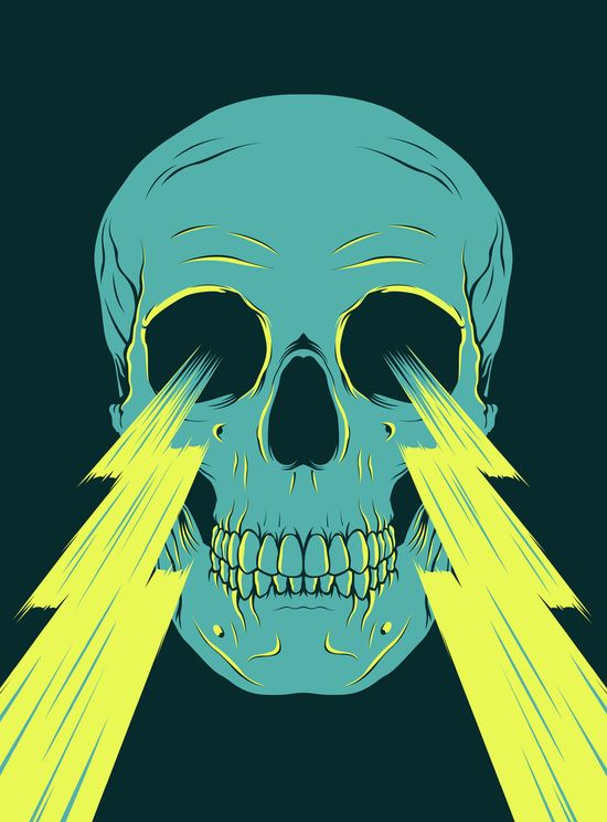 Lightning Skull by Chad Landenberger