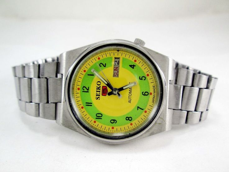 Vintage Seiko 5 Automatic 17j Movement No.7009A Japan Made Men's Watch.. #SEIKO