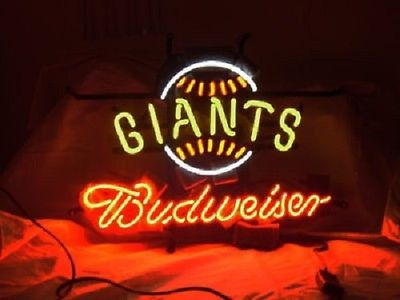 "Mlb sf #giants #budweiser beer bar club neon #light sign (16"" x 13""),  View more on the LINK: 	http://www.zeppy.io/product/gb/2/322046933525/"