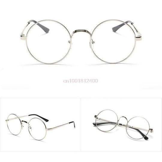 New Vintage Oval Eyeglass Frame Mann Frauen Plain Glass Klar Vollrand Spectacleseosegal  – Men Eyewear Frames