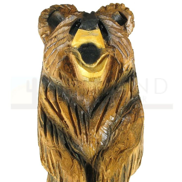 Sunland Home Decor: Chainsaw Carving - 30in Standing Brown Bear