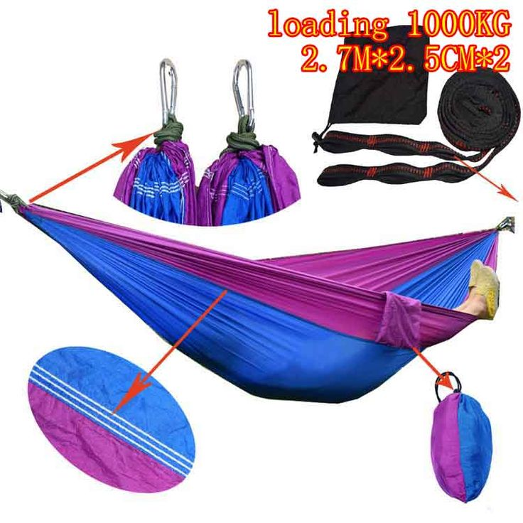 ==> [Free Shipping] Buy Best adults single Person Hammock Parachute Portable Outdoor Camping Indoor Home Garden Sleeping Hammock Bed 300kg Max Online with LOWEST Price | 32805110276