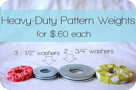make small, VERY heavy #patternweights for $.60 each! #sewing #fabriccrafts