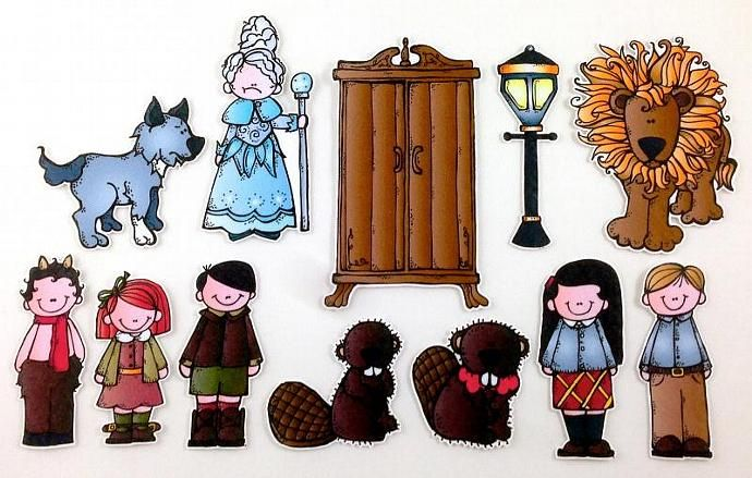 The Lion, the Witch, and the Wardrobe Felt Board Story Set by byMaree, $20.00 USD