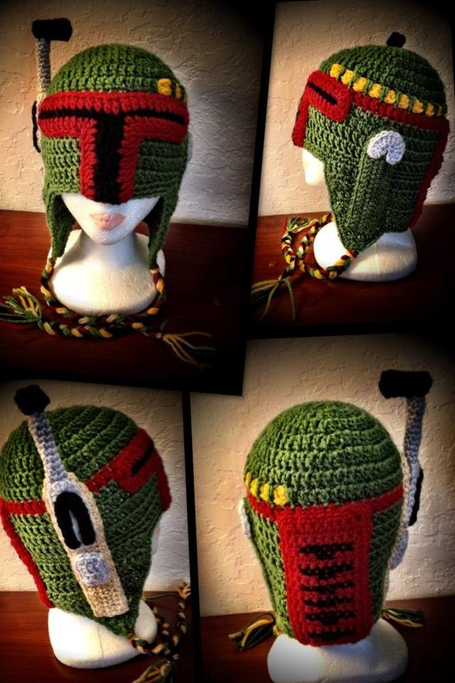 Star Wars Bounty Hunter Boba Fett Inspired Crochet Hat. $60.00, via Etsy.