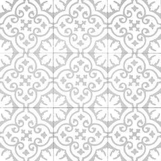 Moroccan cement tile - Sizes and how to order information can be found below Size: - 20×20cm -16mm Product details - Pattern code: 10200 - Colours: B, GTL - Product code: 20951 Made of: - Cement, marble powder sekä inorganic pigments Manufactured - Morocco Price and package details: - Minimum order 6 box/ 3.6m2 - Price per box - 15 tiles/ 0.6m2 per box