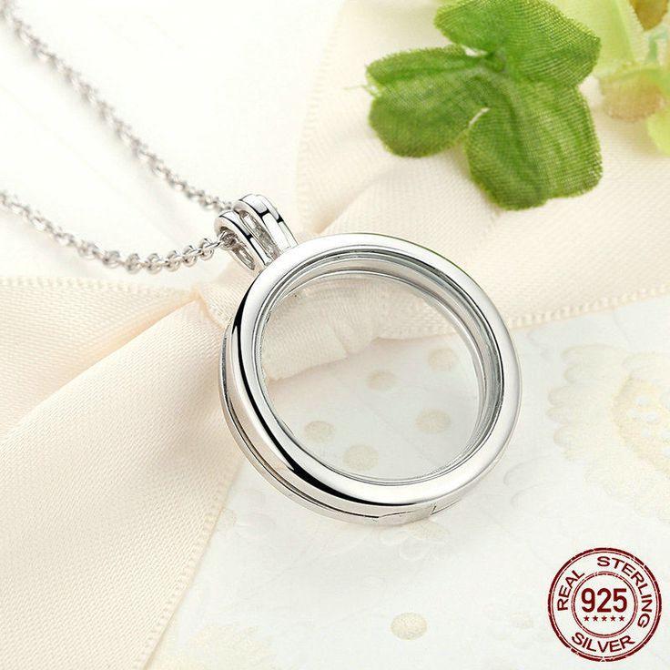 Ciondolo in cristallo trasparente Vuoto senza ciondoli apribile per piccoli Bead 100% argento sterling 925 Per donne con stile  PSF001 di OceanBijoux su Etsy