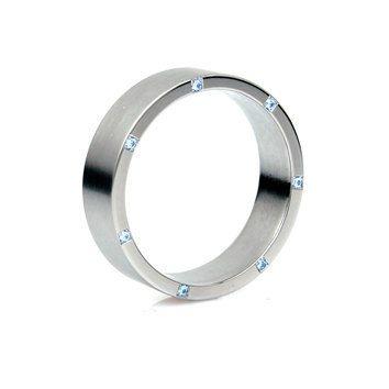 Titanium ring blue diamond band men's by TorkkeliJewellery on Etsy, $895.00