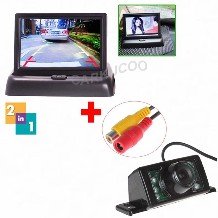 Auto Parktronic 4.3 Inch TFT LCD Screen Car Flodable Monitor For Rear View Camera IR Night Vision Reverse Camera For Car-Styling