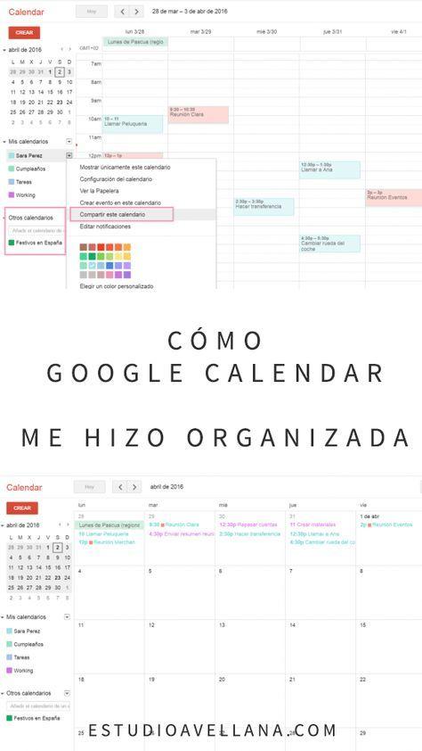 Las claves del Calendario de Google (en español)