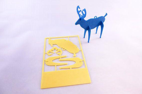 Dar a tus amigos y seres queridos una Navidad única tarjeta regalo - estas tarjetas impresas 3D pueden trabarse juntos para crear adornos de árbol de Navidad duraderos!  Pásate por la tienda R & Dx2 para otras tarjetas y regalos: www.etsy.com/shop/RnDx2