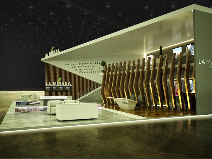 Kubik Exhibition Stand View : Exhibition design la mirada booth cityscape cairo on