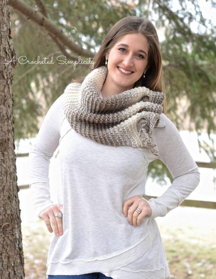 Free Crochet Pattern - Aveline Reversible Crochet Scarf