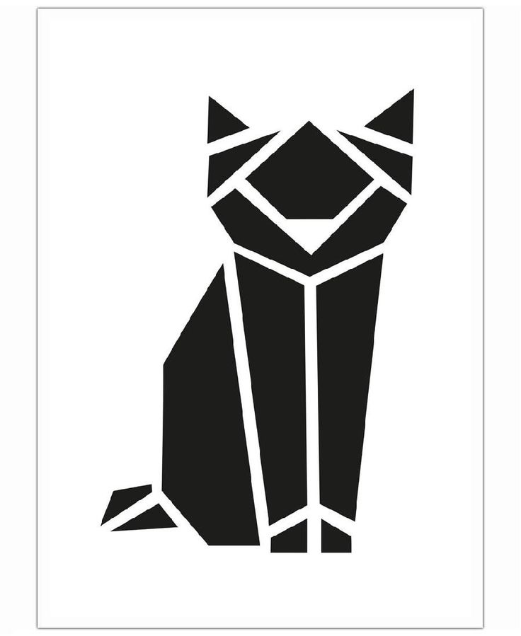 Origami Katze of Eulenschnitt now on JUNIQE!