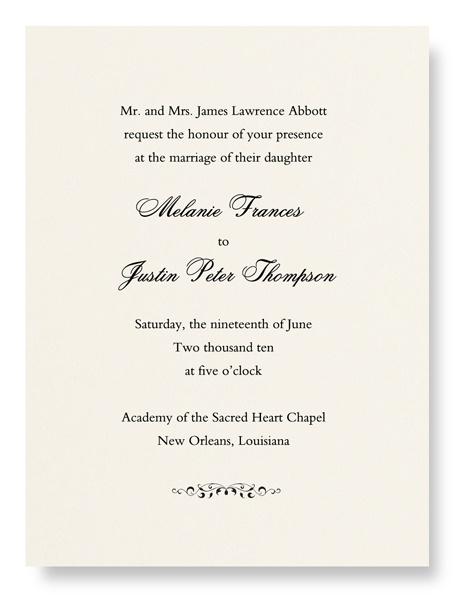 Ecru Personalized Wedding Invitation Card. William ArthurWedding ...