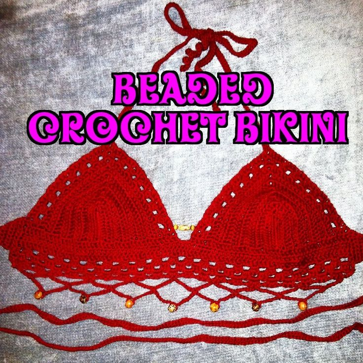 Youtube instructions video Beaded Crochet Bikini Pattern - How To Crochet A Bikini CLICK HERE: http://www.EveryDayWeCrochet.com If you are interested in building an additional source o...