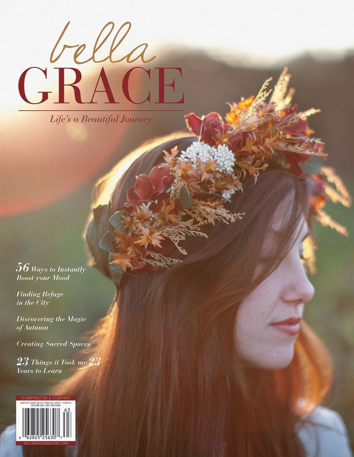 Explore 56 ways to instantly boost your mood, find refuge in the city, discover the magic of autumn, and create your own sacred space with Issue 9 of Bella Grace.