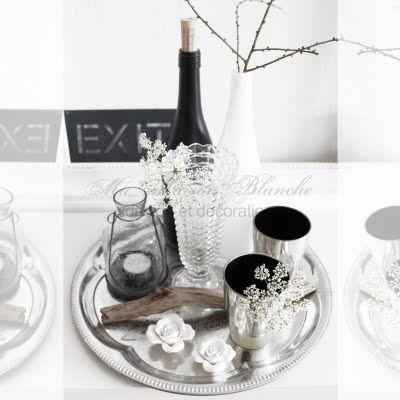 silver tray decoration