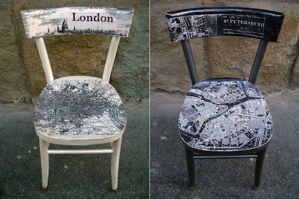 декупаж старых стульев