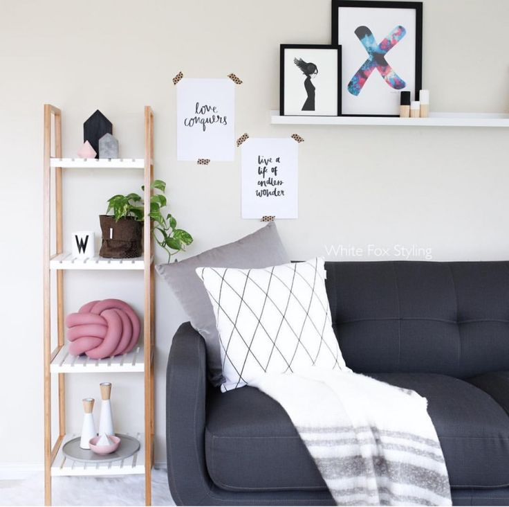 Kmart Homewares white wooden tall shelf by white fox styling