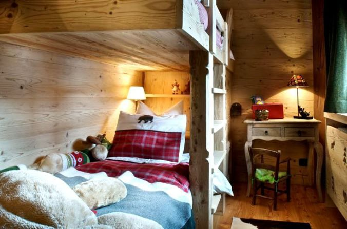 Kids bedroom / Dormitor rustic pentru cei mici cu paturi supraetajate