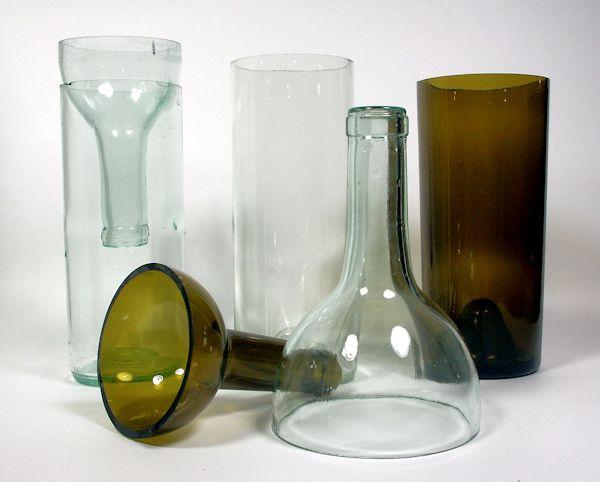 Les 123 meilleures images du tableau 35 id es de r cup - Comment couper une bouteille en verre ...
