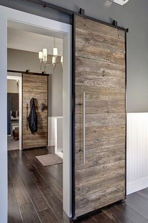 I love this look. Making two of these for the new house; one for the office and one for the master bedroom. We have reclaimed hemlock floor joists for this project. | Dad and Mom Projects