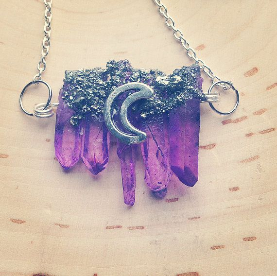 Hey, I found this really awesome Etsy listing at https://www.etsy.com/listing/224561197/purple-quartz-crystal-necklace-with