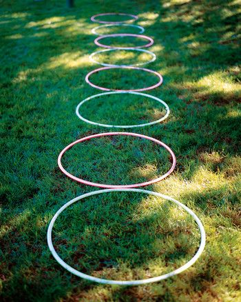 On a hot summer day, throw an obstacle course party for your child and a group of his or her closest friends.