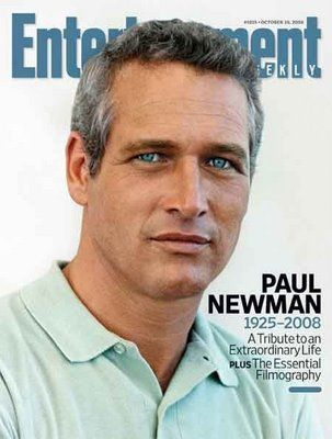 """The blond haired, blue eyed exception to the rule.....RIP Paul Newman (cover of """"Entertainment"""" magazine)"""