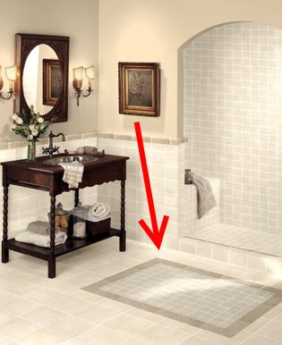 Bathroom Tile Design in 5 Easy Steps: Bathroom Tile Design - Tip #1: Add Medallions or Focal Points