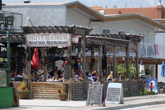 saltys restaurant is along okanagan beach in penticton