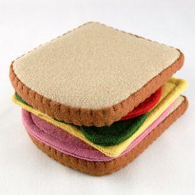 Sandwich en feutrine fait maison # felt food