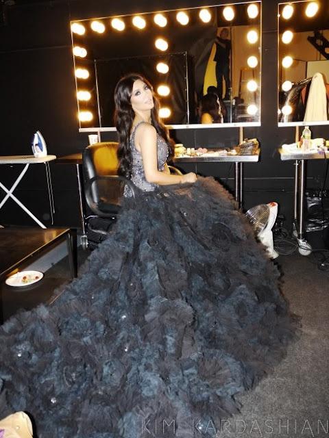 Kim Kadarshian Marchesa black Gown