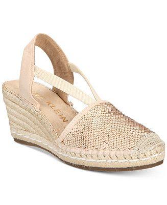 d5c5c3c9010 Anne Klein Abbey Espadrille Platform Wedge Sandals - Espadrilles - Shoes -  Macy s