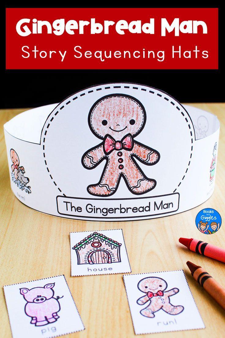 Gingerbread Man Sequencing Hats Gingerbread Man Activities Gingerbread Man Preschool Gingerbread Man Kindergarten [ 1102 x 735 Pixel ]