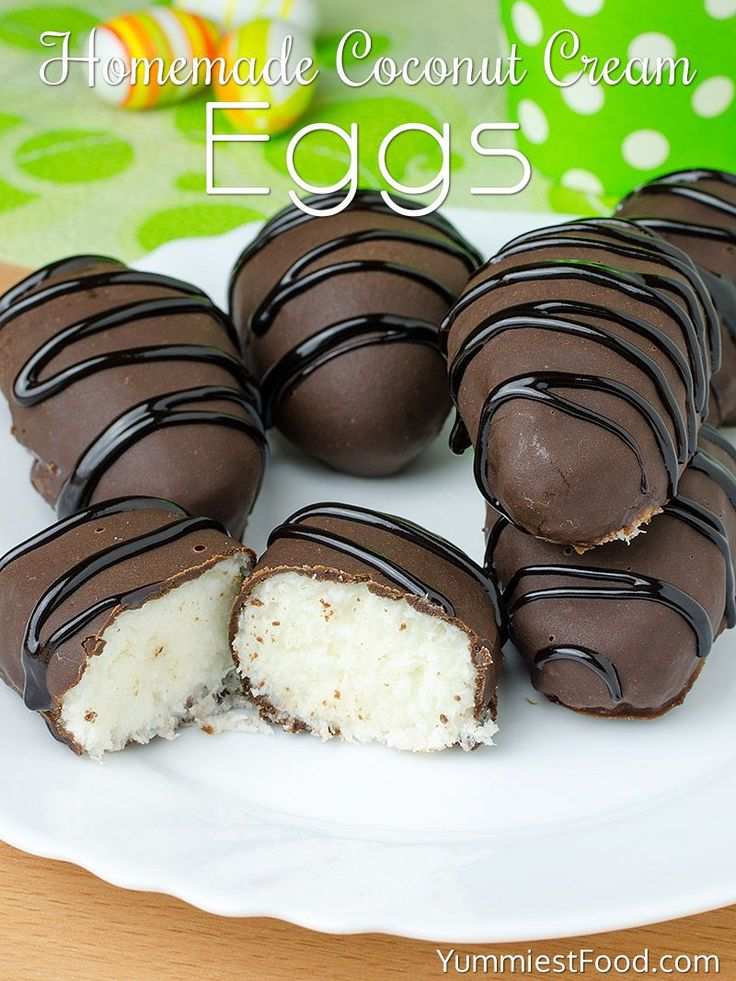 Homemade Coconut Cream Eggs - Easter is coming so make this recipe and surprise your family and children. You need only few ingredients and few minutes for this recipe! Your Easter family table will look incredible with these Homemade Coconut Cream Eggs!