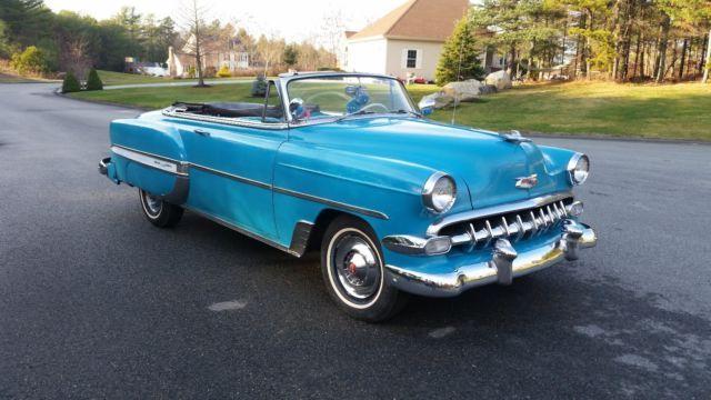 1954 CHEVY BELAIR V8 CONVERTIBLE RARE for sale: photos, technical specifications, description