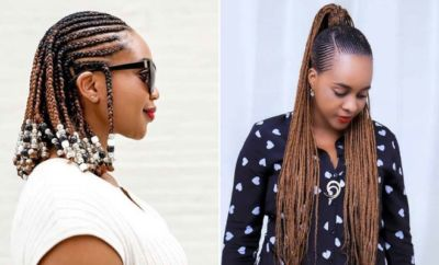 23 Most Beautiful Cornrow Braids Turning Their Heads – # Acrylic Nails #Beautynails #Braids #Cornrow #den