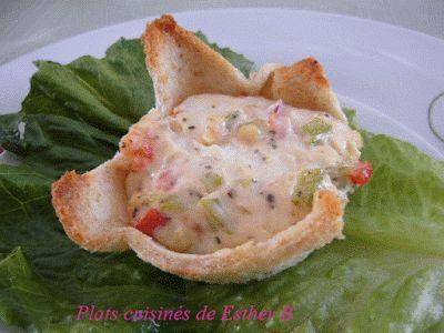 Les plats cuisinés de Esther B: Mini croustarde aux légumes