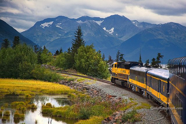 Anchorage Alaska to Denali National Park via Alaska Railways.