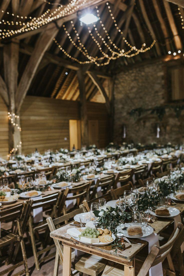 DIY Barn Wedding With Fairy Lights At