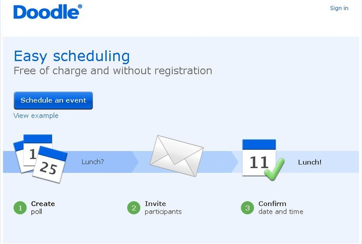 Ever have trouble finding a time when people can meet and get together? Try www.doodle.com - scheduling made easy! #productivity