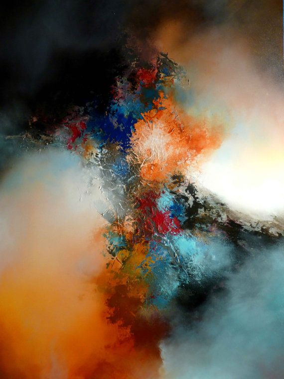 Large Canvas Abstract Painting in Mixed by SimonkennysPaintings, £2800.00