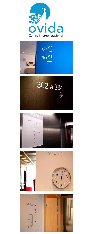 Marca gráfica y señalización interior para Ovida Centro Intergeneracional #design #señaletica #Asturias http://www.jorgelorenzo.net/museos.php?idt=54
