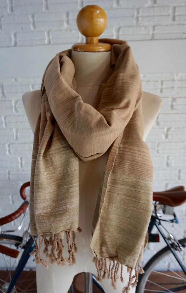 Handmade scarf, natural dyes